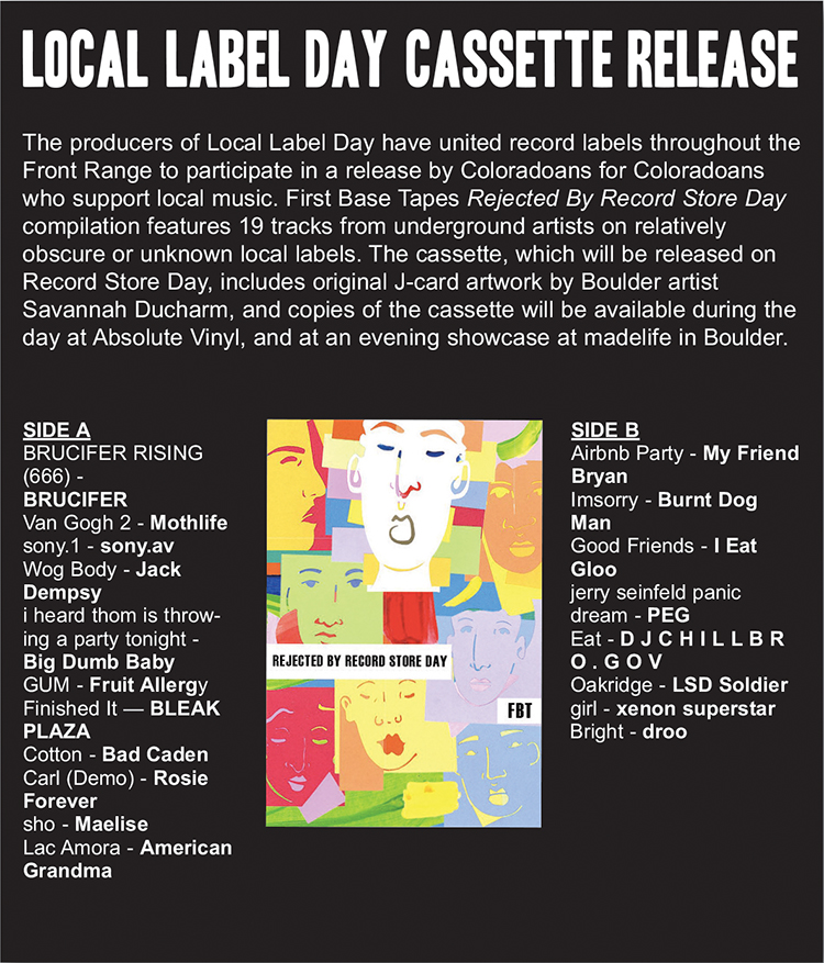 local label day cassette graphic marquee magazine