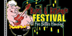 Blues & BBQ For Better Housing Block Party marquee magazine