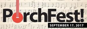 PorchFest festival marquee magazine