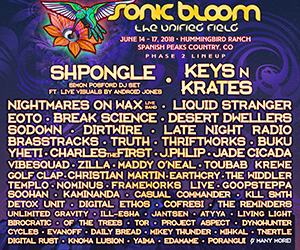 300x250 - 2018-06-14 THRU 2018-06-17 - SONIC BLOOM Marquee