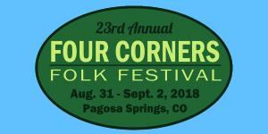 Four Corners Folk Festival marquee magazine