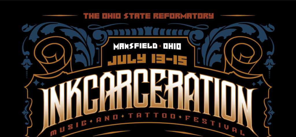 INKcarceration Music and Tatoo Festival marquee magazine