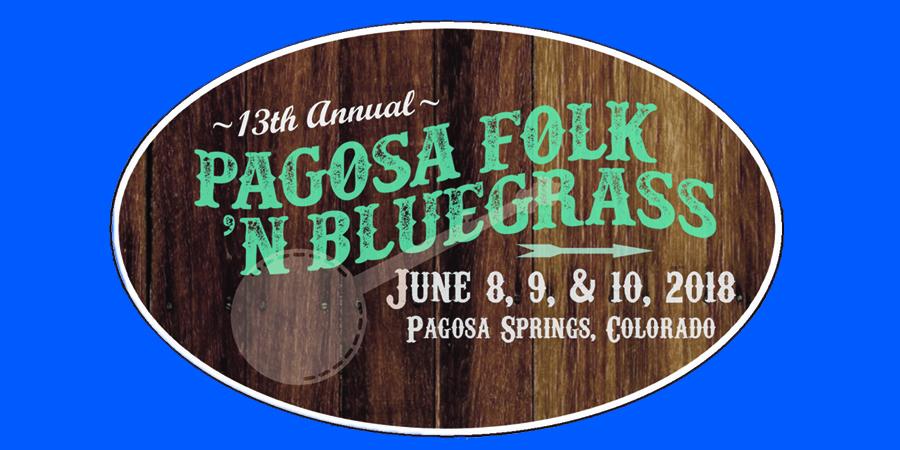 Pagosa Folk 'N Bluegrass festival marquee magazine