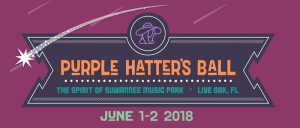 Purple Hatter's Ball festival marquee magazine