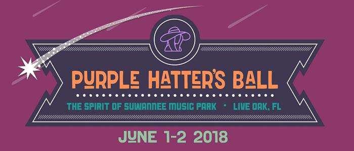 Purple Hatter's Ball festival marquee magazine