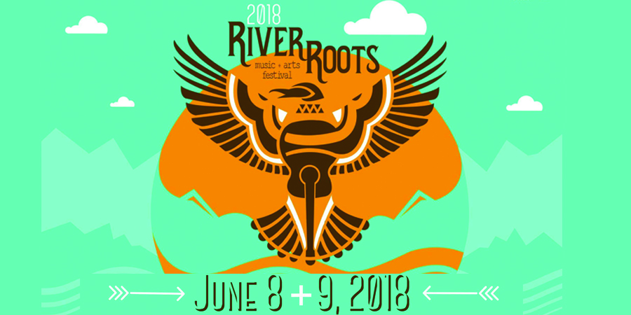 River Roots Music + Arts Festival marquee magazine