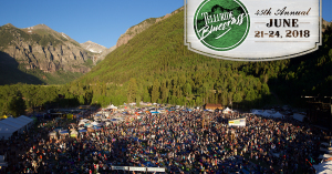 Telluride Bluegrass Festival marquee magazine